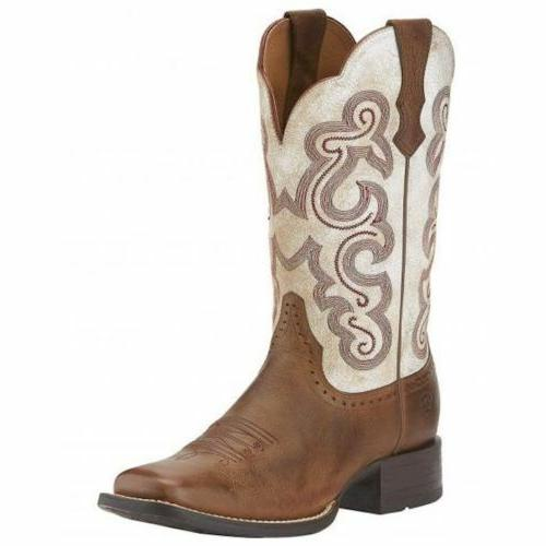 WOMEN'S ARIAT QUICKDRAW SANDSTORM/ DISTRESSED WHITE WESTERN