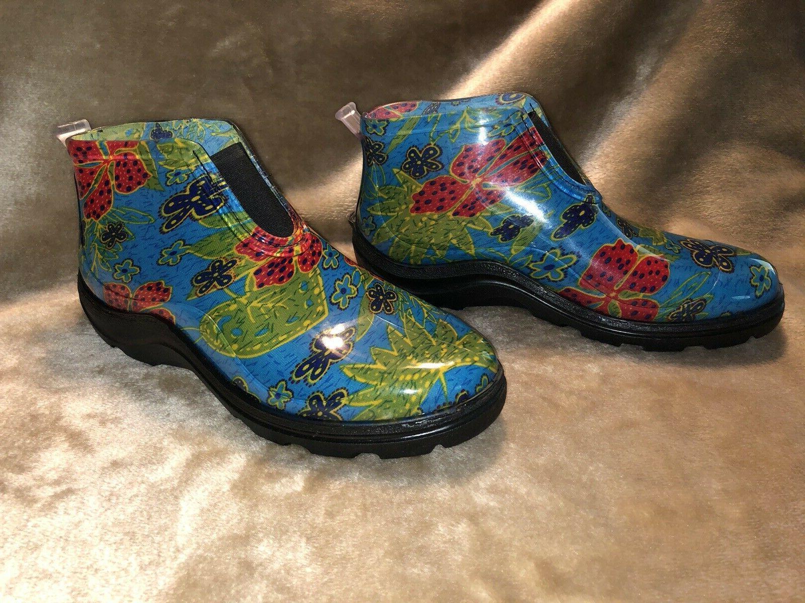 Sloggers Women's Rain & Garden Ankle Boots Size 10 Floral Ne