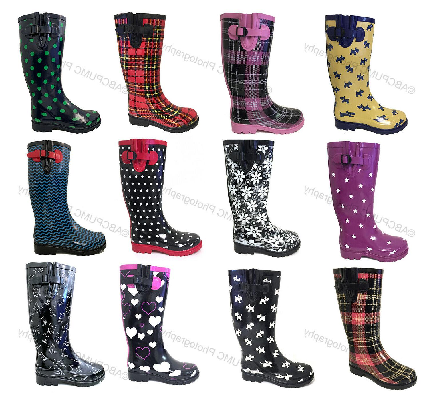 women s rain boots rubber waterproof colors