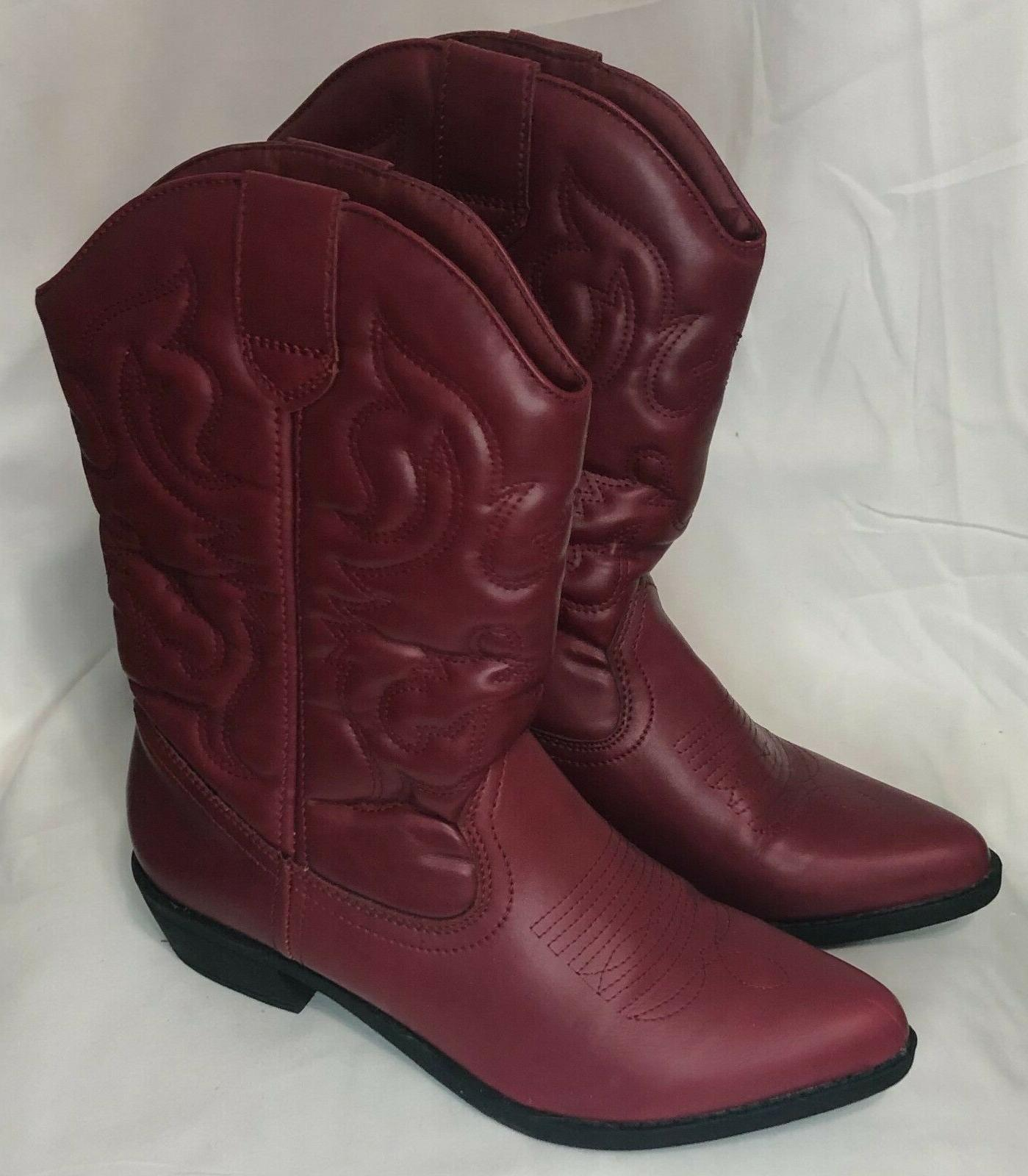 women s red western boots size 8