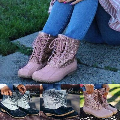 Women's PU Leather Combat Boots