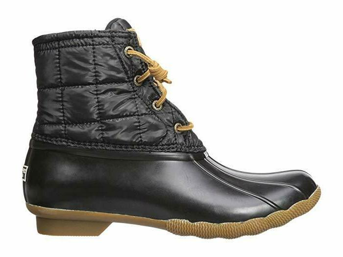 Sperry Women's Saltwater Shiny Quilted Boots, Size 8.5 US
