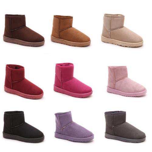 Winter Women's Ankle Snow Boots Warm Fur With Velvet Thicken