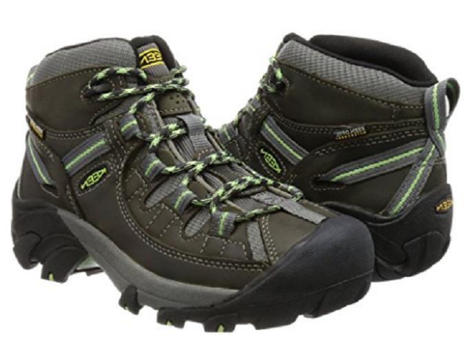 KEEN Women's Targhee II Mid WP Hiking Boot Raven/Opaline-101