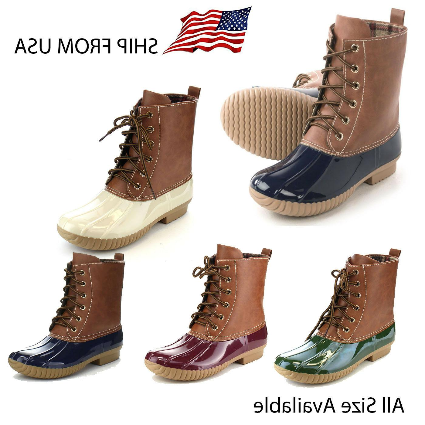 women s two tone lace up combat