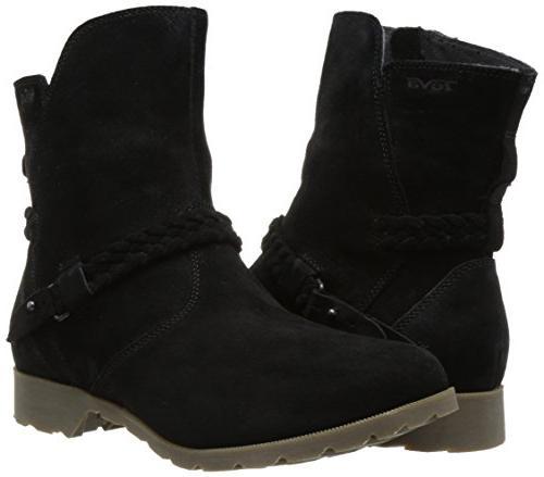 Teva Women's W Low Suede Boot, Black, 6 US