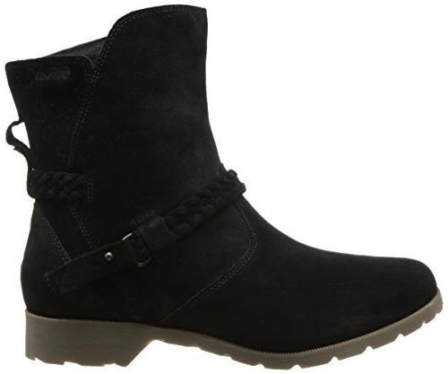Teva Low Suede Mid Boot, Black, US