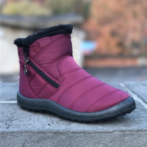 Womens Warm Snow Boots Winter Waterproof High Top Fur Thicke