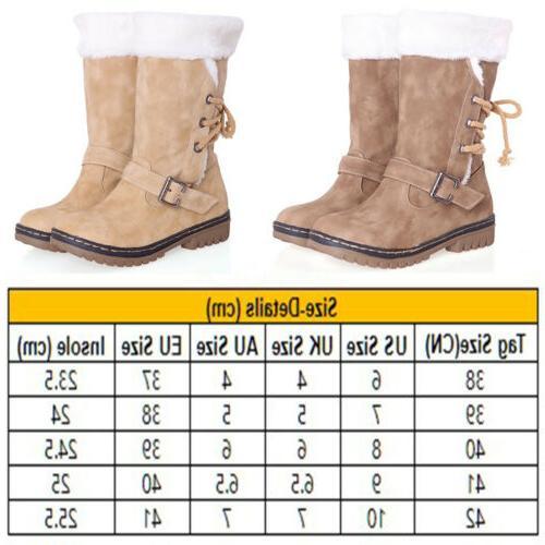 Women's Fur Insulated Midi Calf Size