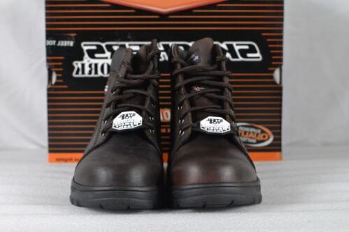 Women's Skechers Workshire-Peril Boots Dark Brown