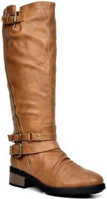 DREAM PAIRS Womens ATLANTA Knee High Faux Fur Riding Boots