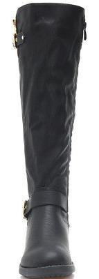 DREAM PAIRS Women Low Heel Zipper Knee High Riding Boots US
