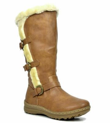 DREAM Womens Fur Warm Wide-Calf Side Snow