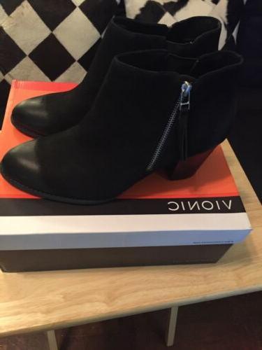 Vionic womens 322 -Black-Boots Size