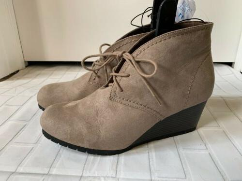 womens ankle boots lace size 11 new