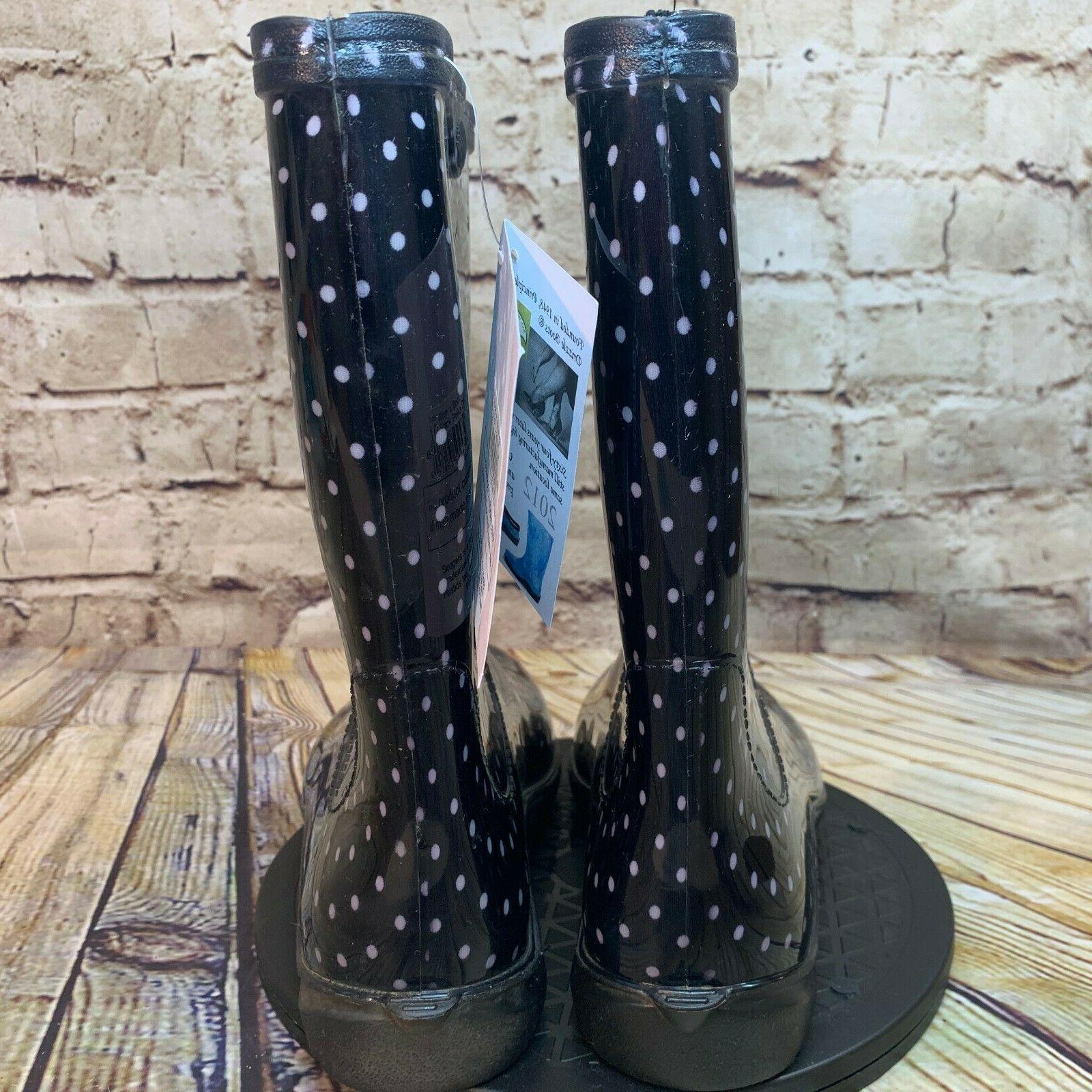 Sloggers Black and White Polka Rain Boots