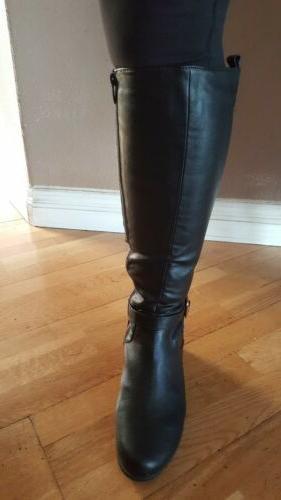 womens black boots sizes through 9, Brand