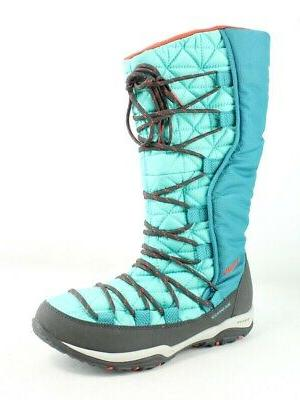 womens blue snow boots size 7 204078