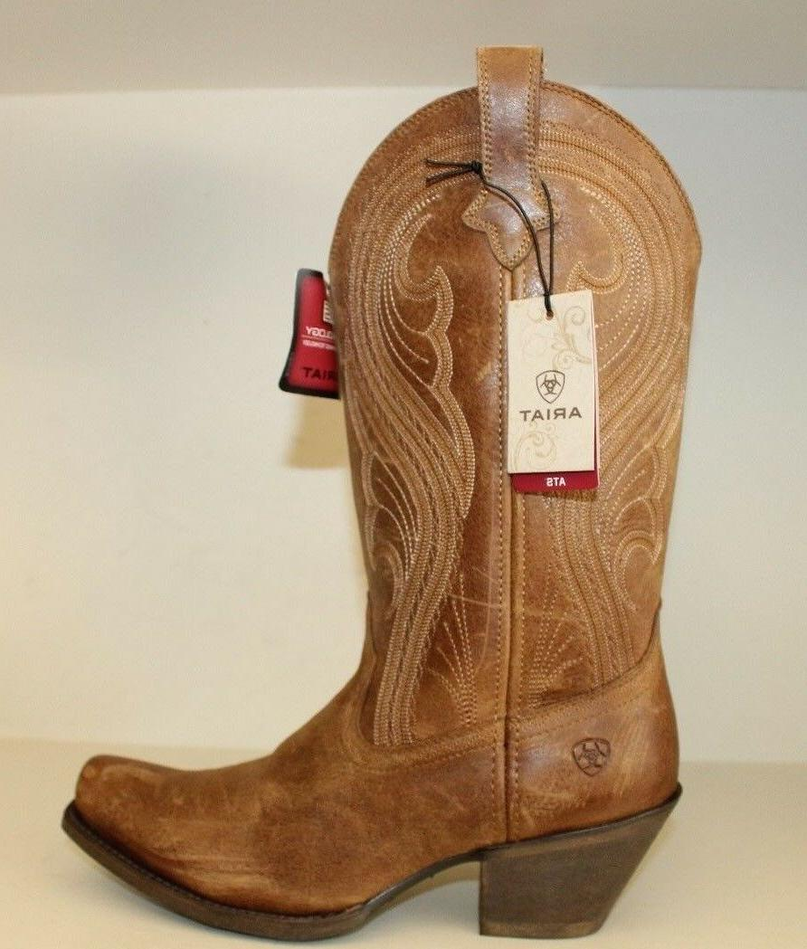 Ariat Womens Boots Sz 9 B Lively Old West Distressed Square