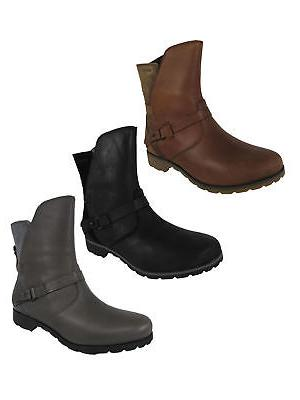 womens delavina low leather fashion boot shoes