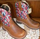 """Womens Ariat Fatbaby Heritage Vivid 8""""  Cowboy Boots Size 7."""