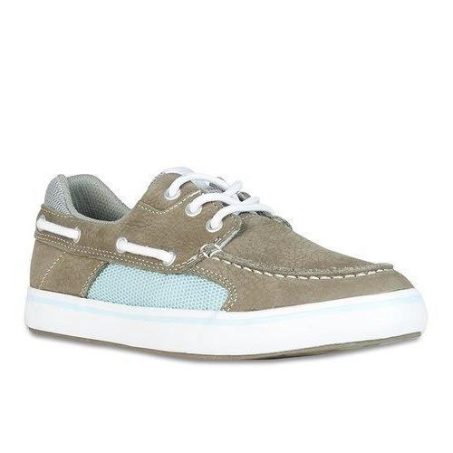 Xtratuf Womens Finatic II Grey Deck Shoes w/ Non-Marking Out