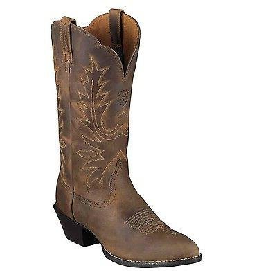 Ariat Womens Heritage R Toe Cowboy Western Boot Distressed B