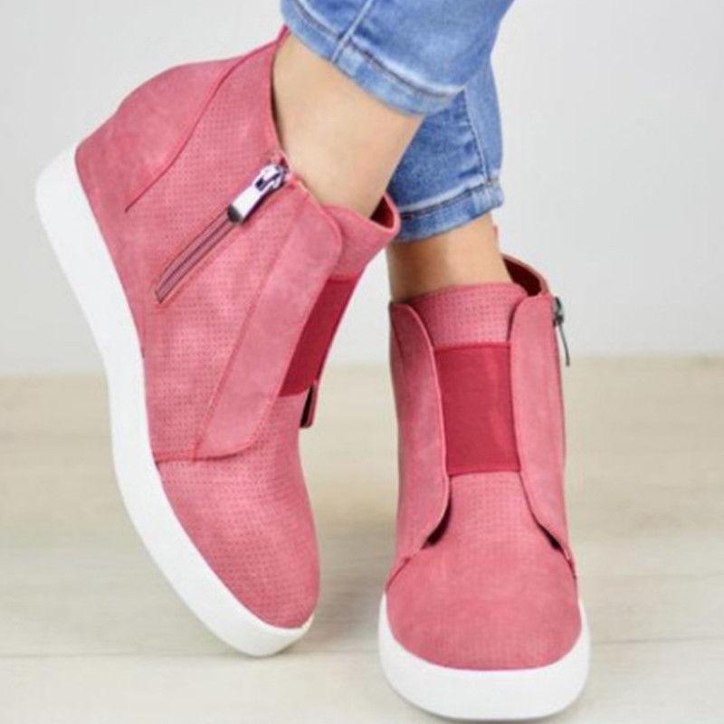 Womens Hidden Mid Sneakers Trainer Size