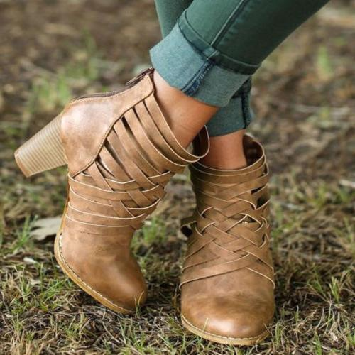 Womens Ankle Booties Autumn Winter Size
