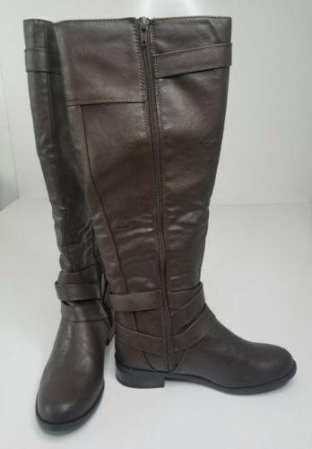 Soda Womens High Riding Brown With Zipper 10