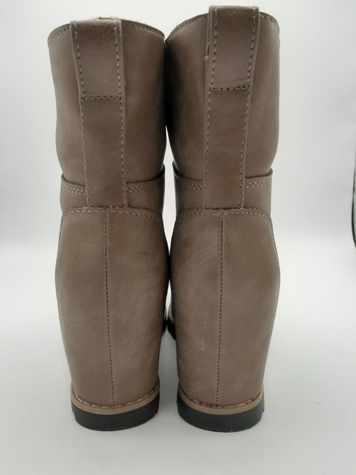Womens Thread Wedge Boots 6