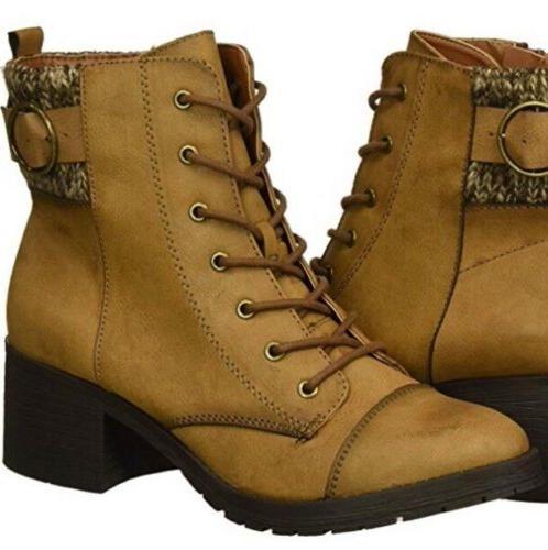 Rampage Women's Krista Combat Boots Size 9