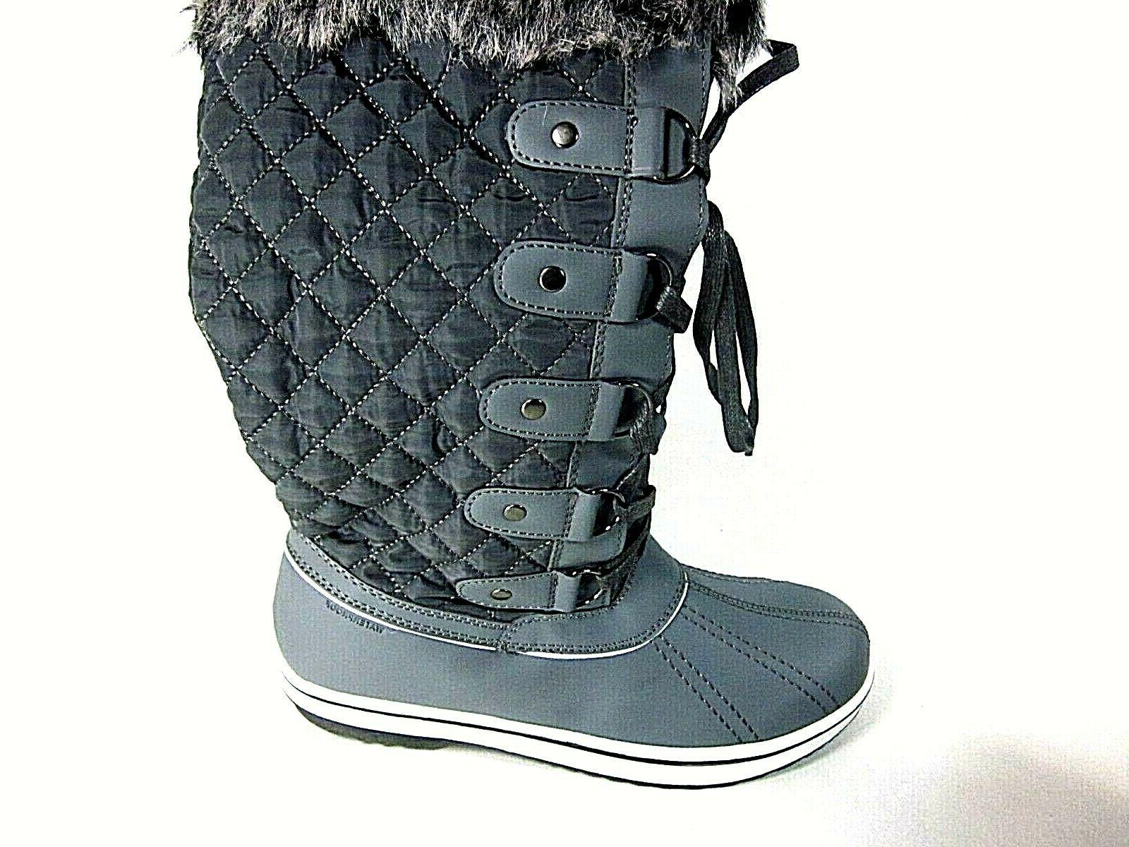 ALEADER Lace Up Cold Weather Winter Snow Boots, Dark Grey US
