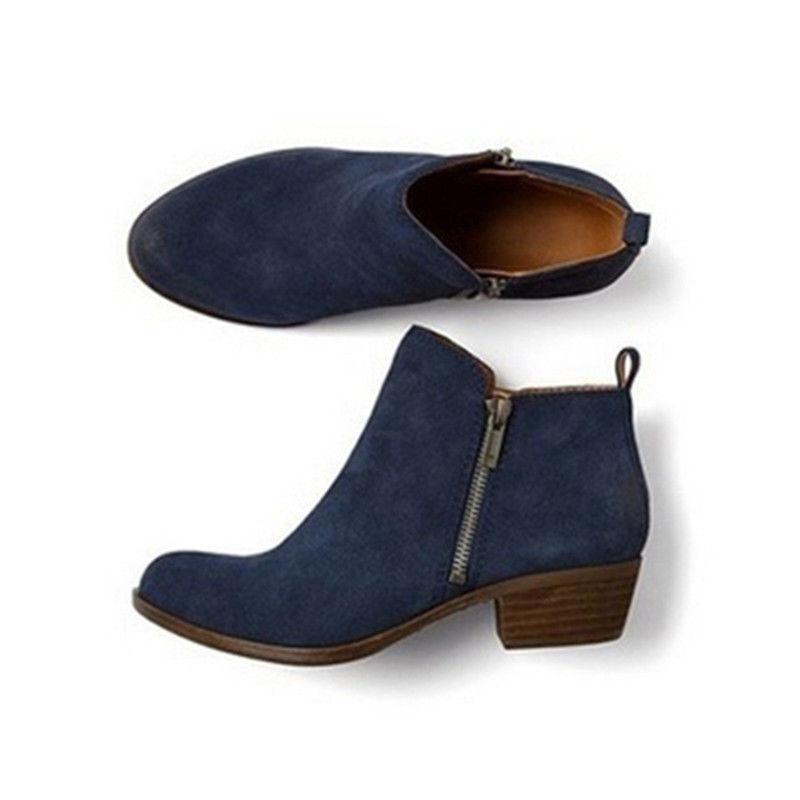 Womens Heels Ankle Toe Zip On Size