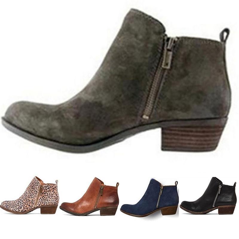 womens booties low heels ankle boots ladies
