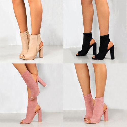 Womens High Block Sandals Size