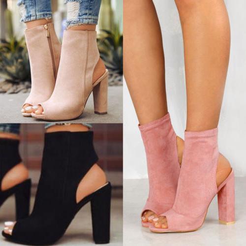 womens ladies platform high block heel sandals
