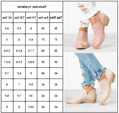 Womens Flat Short Ankle Boots Booties Round Zipper Up Casual Shoes
