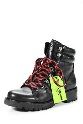 womens leather lace up padded puff tamia