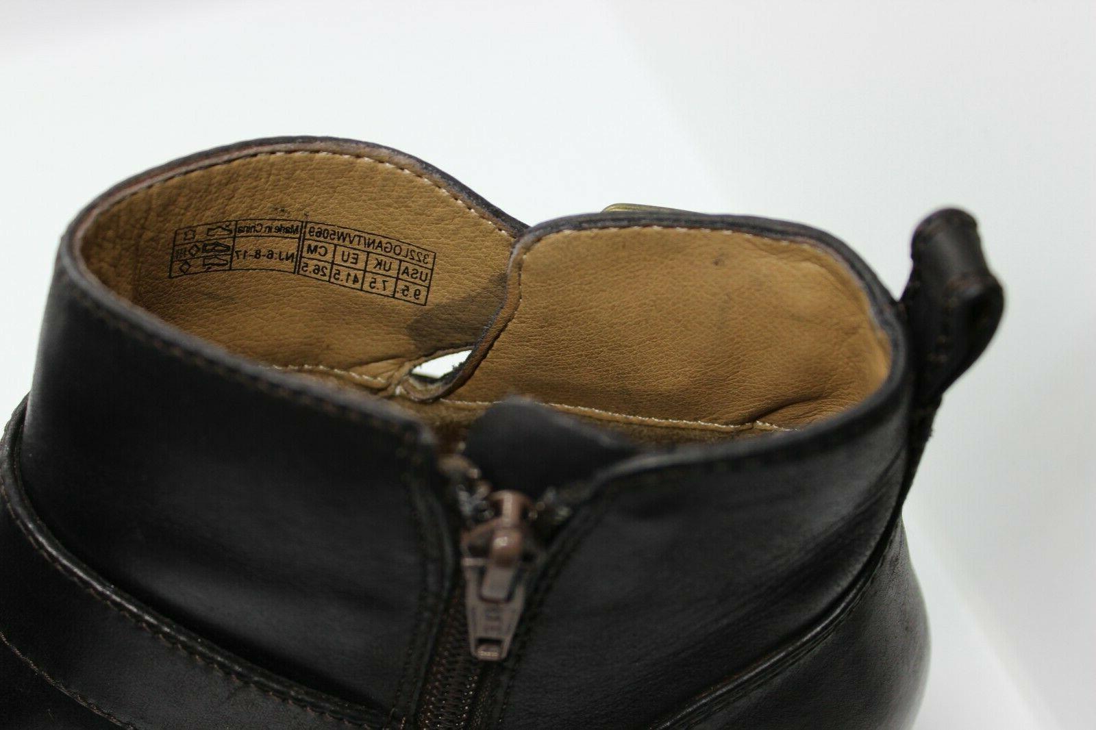 VIONIC Womens Logan Ankle Boots Sz Leather