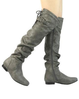 DREAM PAIRS The Knee Thigh High Heel Boots