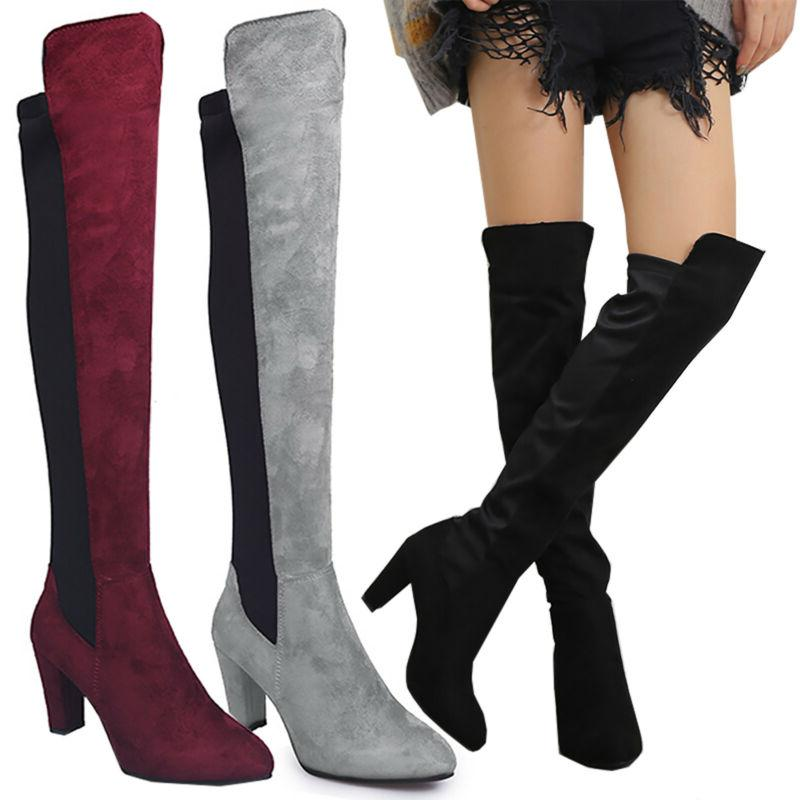 Women Winter Ladies Mid Calf Leg