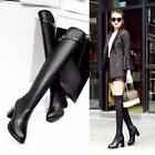 Womens  Over The Knee Thigh High Pull On High Heel Platform