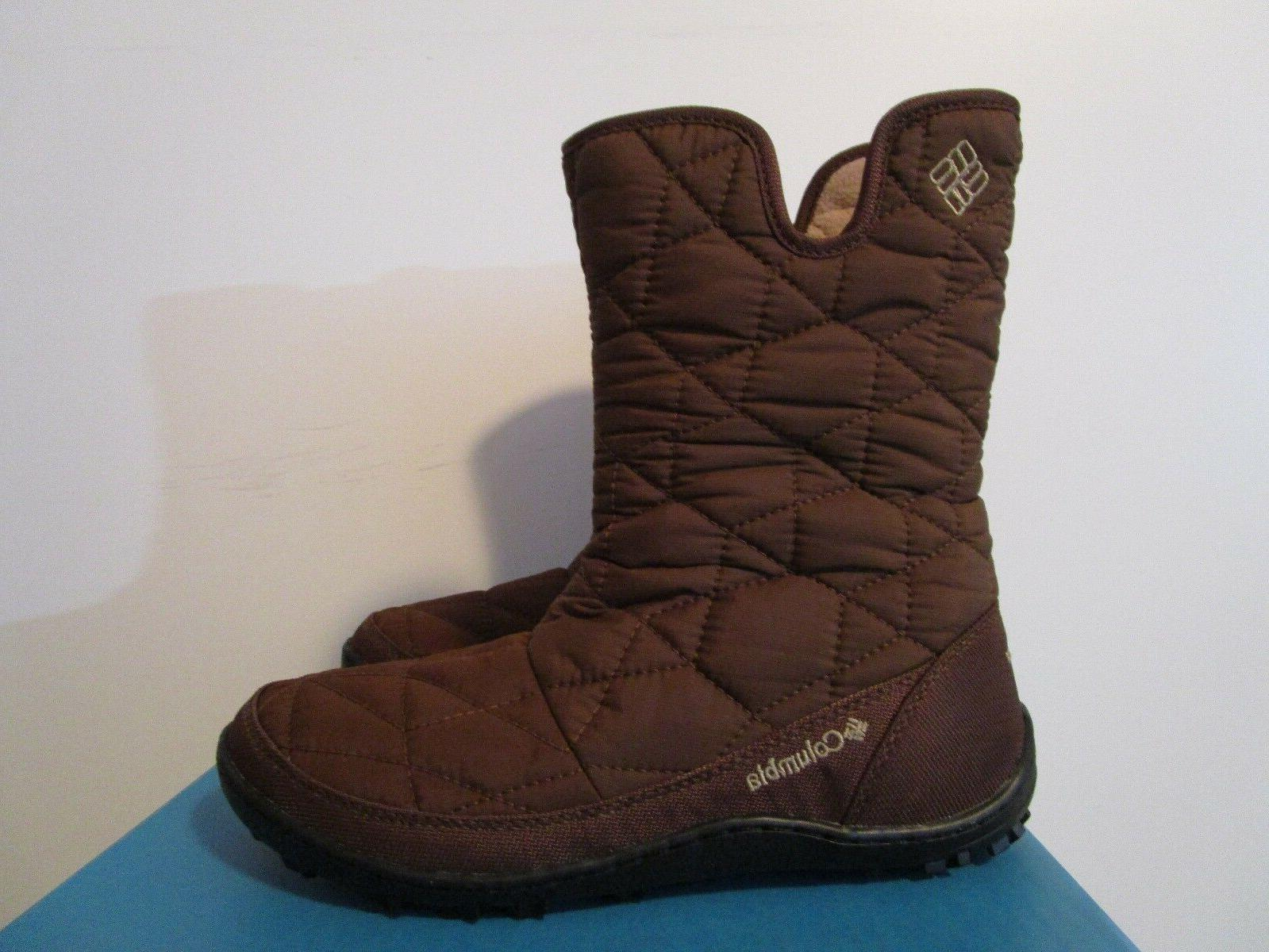 Womens Columbia Powder Snow Boots Brown