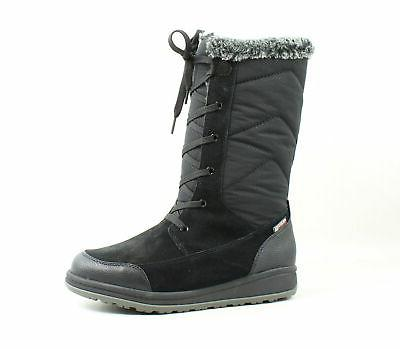 womens quincys black snow boots size 6