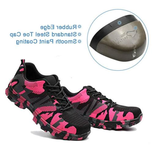 Womens Safety Steel Cap Work Boots Breathable Outdoor