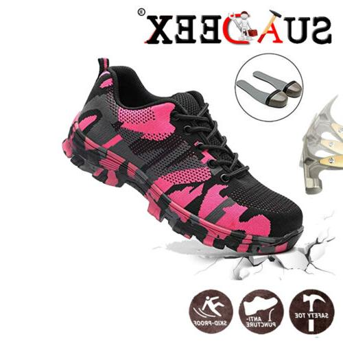 womens safety steel toe cap work boots