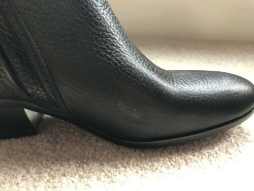 Womens Sam Pebble Black Leather Ankle Boots