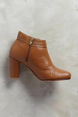 Luiza Perea Santos Leather Booties Tan Brown Euro US