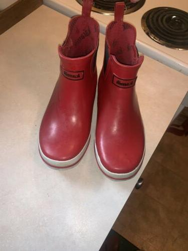 Kamik Womens Sharon Red Rainboots Size Ankle
